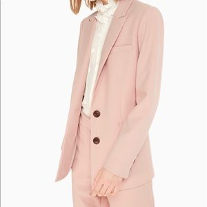 Kate Spade NY classic blazer in pink opal